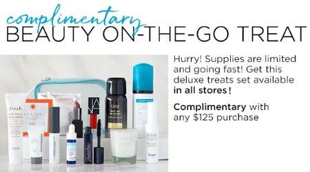 Complimentary Beauty On-the-Go Treat