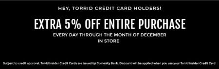 Extra 5 Off Entire Purchase At Torrid White Marsh Mall