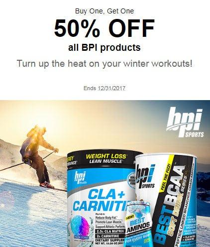 BOGO 50% Off All BPI Products