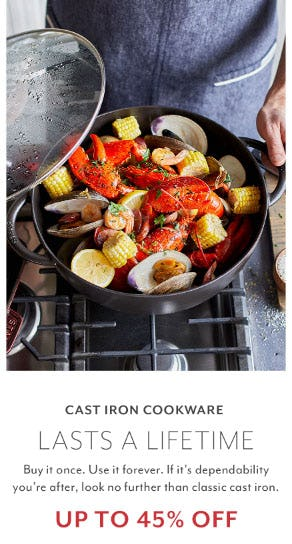 Up to 45% Off Cast Iron Cookware from Sur La Table