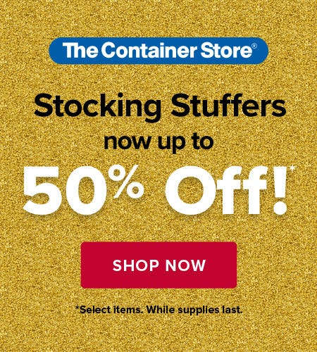 Up To 50% Off Stocking Stuffers from The Container Store