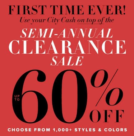 Semi-Annual Clearance: 60% Off from New York & Company
