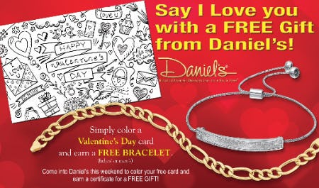 Valentine's Card & Free Gift from Daniel's Jewelers