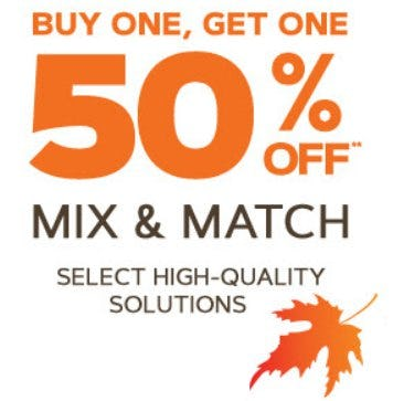 Buy One, Get One 50% Off Select High-Quality Solutions
