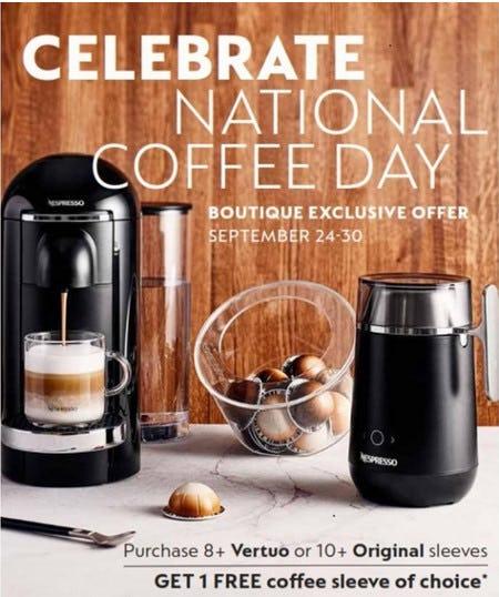 CELEBRATE NATIONAL COFFEE DAY! from Nespresso