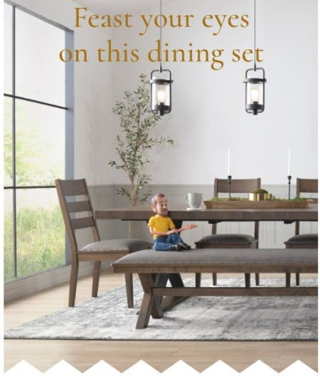Ready-to-Serve-You Lennox Dining Set from Bob's Discount Furniture