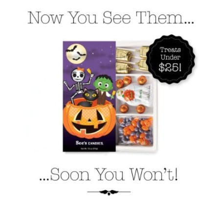 See's Halloween Treats Under $25 from See's Candies