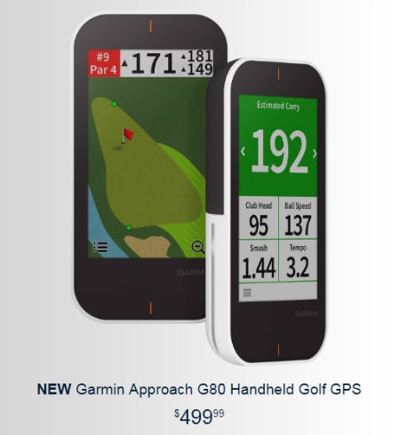 New Garmin Approach G80 Handheld Golf GPS from Golf Galaxy