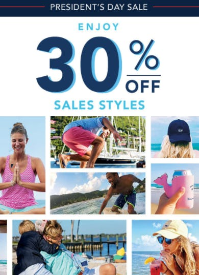 President's Day Sale from vineyard vines