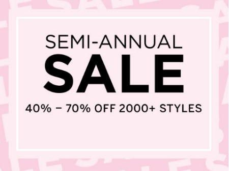 40% - 70% Off Semi-Annual Sale from Victoria's Secret