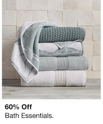 60% Off Bath Essentials from macy's
