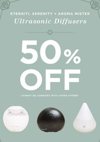 50% Off Ultrasonic Diffusers from Earthbound Trading Company