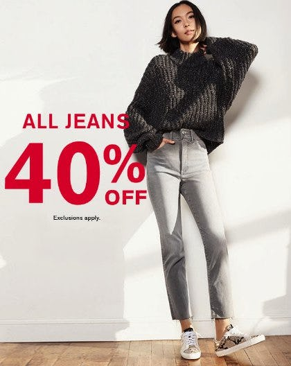 All Jeans 40% Off from Express