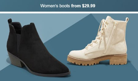 Women's Boots From $29.99 from Target