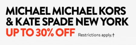 Micheal Michael Kors & Kate Spade New York up to 30% Off from Nordstrom
