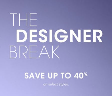 Up to 40% Off The Designer Break from Bloomingdale's