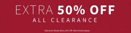 Extra 50% Off All Clearance from Jos. A. Bank