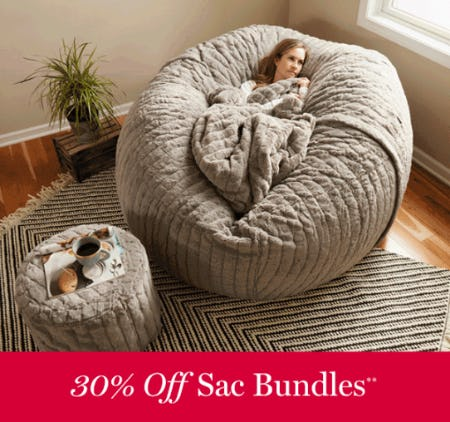30% Off Sac Bundles from Lovesac Designed For Life Furniture Co