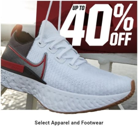 Up to 40% Off Select Apparel and Footwear from Dick's Sporting Goods
