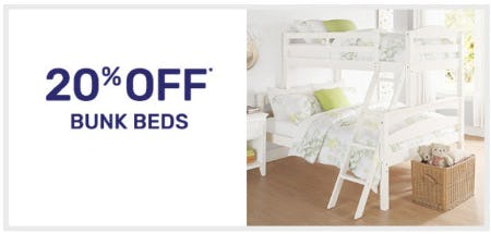 20% Off Bunk Beds from Pier 1 Imports