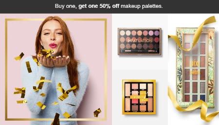 BOGO 50% Off Make Up Palettes
