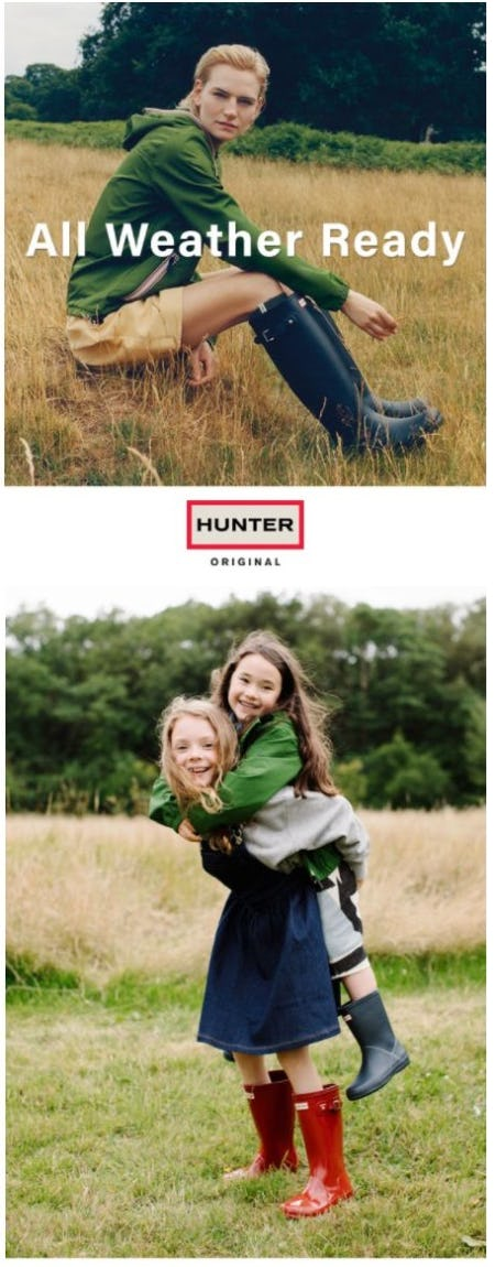 Hunter Boots for Every Walk of Life