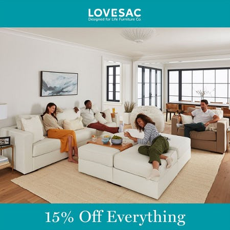 Friends & Family Event 15% Off Everything from Lovesac