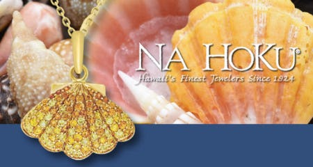 The Shell Pendant with Yellow Sapphires from Na Hoku