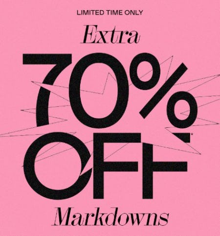Extra 70% Off Markdowns from PacSun