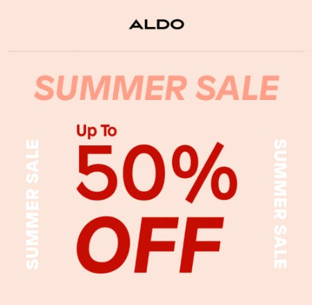 Up to 50% Off Summer Sale from ALDO