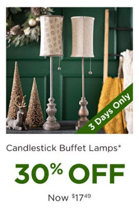 30% Off Candlestick Buffet Lamps from Kirkland's