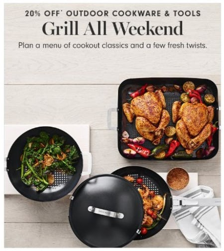 20% Off Outdoor Cookware & Tools from Williams-Sonoma