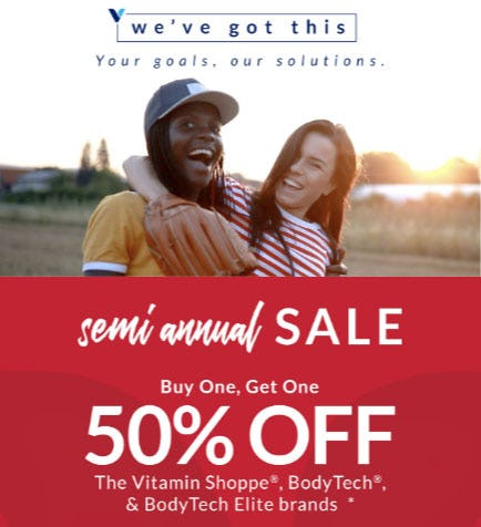 BOGO 50% Off Semi Annual Sale from The Vitamin Shoppe