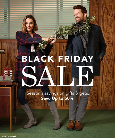 Johnston & Murphy Black Friday Sale from JOHNSTON & MURPHY