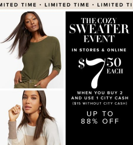 The Cozy Sweater Event
