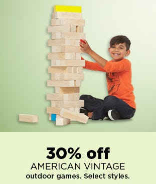 30% Off American Vintage Outdoor Games from Kohl's
