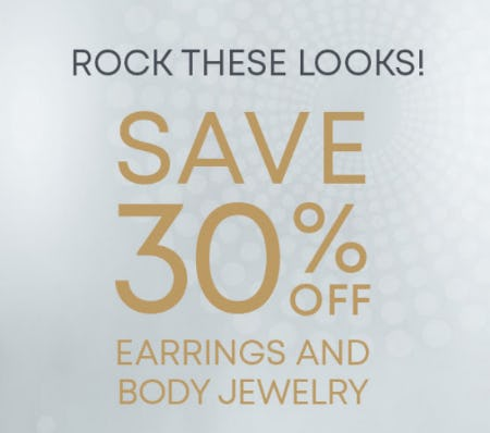 30% Off Earrings & Body Jewelry from Piercing Pagoda