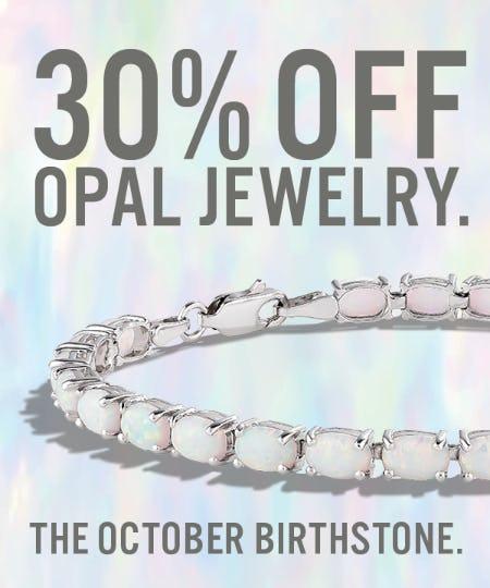 October Birthstone Jewelry Sale: 30% OFF