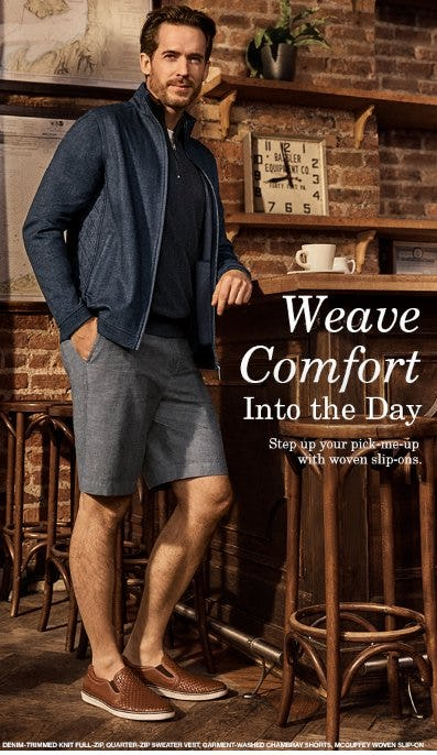 Weave Comfort Into the Day from JOHNSTON & MURPHY