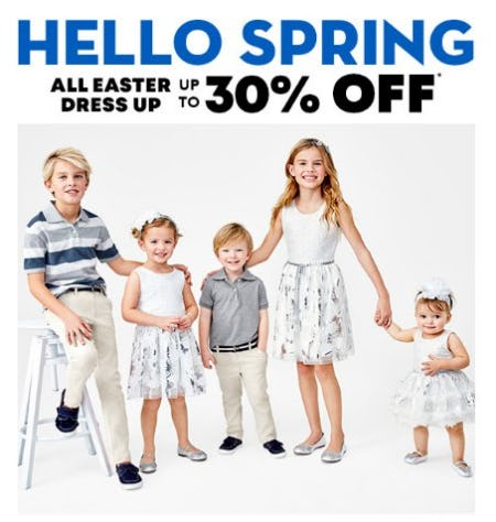30% Off All Easter Dress Up from The Children's Place
