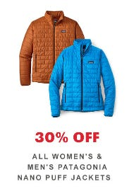 30% Off All Women's & Men's Patagonia Puff Jackets from REI
