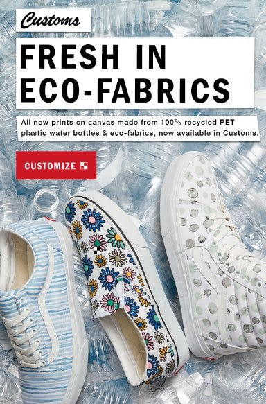 New Eco-Friendly Customs from Vans