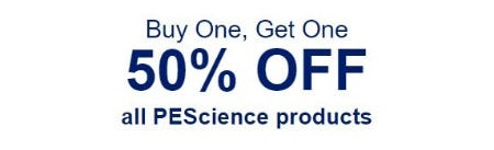 BOGO 50% Off All PEScience Products