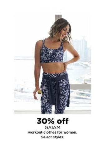 30% Off GAIAM Workout Clothes for Women from Kohl's