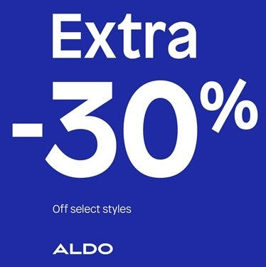Extra 30% Off Ladies' Sandals and Sneakers Styles from ALDO Shoes