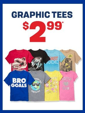 Graphic Tees $2.99 from The Children's Place Gymboree