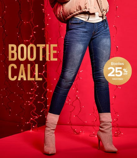 25% Off Booties from Rainbow