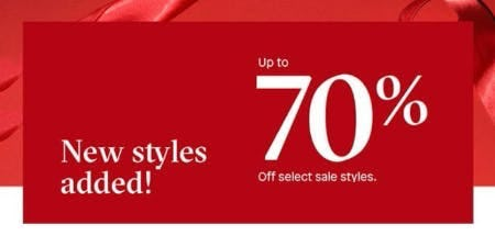 Up to 70% Off Select Sale Styles