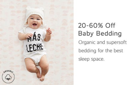 20-60% Off Baby Bedding from Pottery Barn Kids
