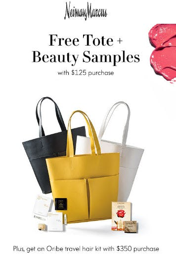 Free Tote & Beauty Samples with $125 Purchase